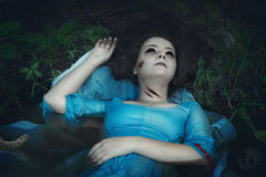 Terrible drowned dead ghost woman Stock Images