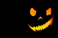 Terrible face of the pumpkin Stock Image