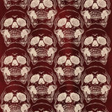Terrible frightening seamless pattern with skull Stock Photography