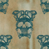 Terrible frightening seamless pattern with skull Royalty Free Stock Image