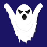 Terrible gloomy ghost on striped background Royalty Free Stock Photo