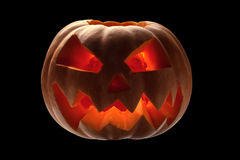 Terrible halloween pumpkin Royalty Free Stock Image