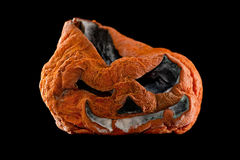 Terrible Halloween pumpkin Stock Photo