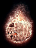 Terrible halloween pumpkin in the smoke Royalty Free Stock Image