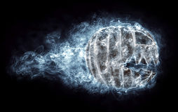 Terrible halloween pumpkin in the smoke Royalty Free Stock Images