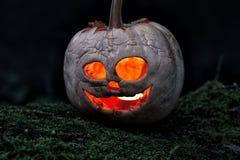Terrible halloween pumpkin Royalty Free Stock Images