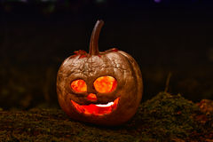 Terrible halloween pumpkin Stock Photos