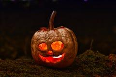 Terrible halloween pumpkin Stock Photos