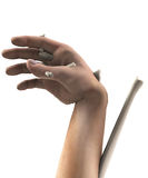 Terrible Hand Injury. Unrealistic injury to a human hand Royalty Free Stock Image