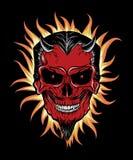 Terrible head of devil Stock Image