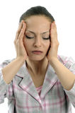 Terrible headache Royalty Free Stock Image