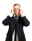 Terrible headache. Royalty Free Stock Image