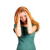 Terrible headache Royalty Free Stock Image