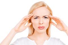 Terrible headache. Royalty Free Stock Photography
