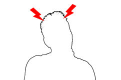 Terrible headache Silhouette Royalty Free Stock Photo