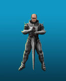 Terrible knight in armor Stock Photos