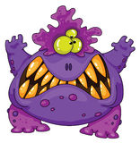 Terrible monster. Illustration of a terrible monster Stock Photo