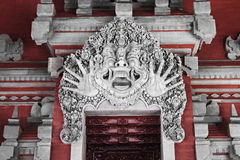 Terrible monster on balinese house entrance Royalty Free Stock Images