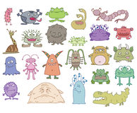 Terrible monsters Royalty Free Stock Images