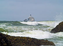Terrible Tilly. Offshore lighthouse on the Oregon Coast nicknamed Terrible Tilly Stock Photos