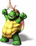 Terrible Turtle. A funny looking ninja Turtle with a weenie Royalty Free Stock Images