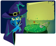 Terrible witch. Vector illustration of terrible witch Royalty Free Stock Photo
