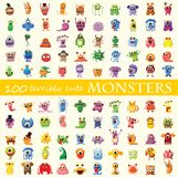 100 terribly cute monsters Stock Images