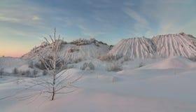 Terricons del invierno Montón Nevado Imagenes de archivo