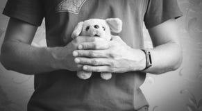 Terrier alambre-cabelludo feliz de Jack Russell miente en la hierba y las sonrisas fotografía de archivo