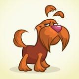 Terrier bonito do scottish dos desenhos animados Cão marrom do Scottie do vetor Fotografia de Stock