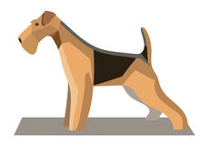 Terrier minimalist image1. Terrier minimalist image on a white background Stock Images
