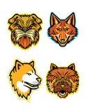 Terriers et collection de mascotte de loups Illustration Libre de Droits