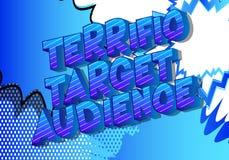 Terrific Target Audience - Comic book style word stock illustration