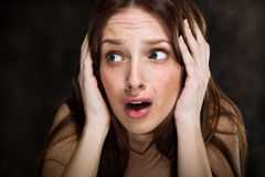 Terrified stock images