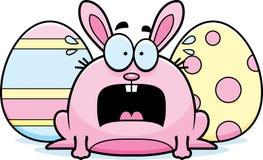 Terrified Cartoon Easter Bunny Royalty Free Stock Photography