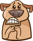 Terrified dog cartoon illustration Stock Photo