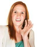 Terrified Female Royalty Free Stock Photo