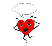 Terrified heart Stock Images