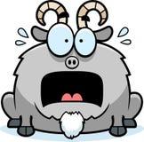 Terrified Little Goat vector illustration