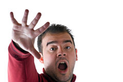 Terrified Man Royalty Free Stock Photo