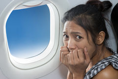Terrified passenger Stock Photography