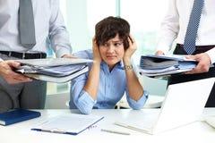 Terrified secretary Stock Photos