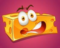 Terrified yellow cheese alone Royalty Free Stock Photo