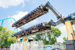 Terrifying Ride in Canada's Wonderland Royalty Free Stock Photography