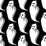 Terrifying white ghosts seamless pattern Royalty Free Stock Images