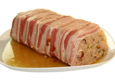 TERRINE. Pork Terrine traditional christmas fare Royalty Free Stock Photo