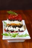 Terrine com queijo e tomates imagem de stock royalty free