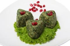 Terrine di verdure con le noci Immagini Stock