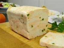 Terrine of fish 3. A terrine of fish on the cutting board Stock Photo