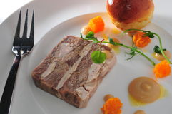 Terrine. French cuisine game terrine Pheasant Royalty Free Stock Photos